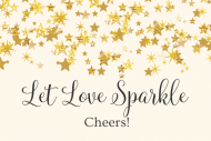 Wedding Mini Wine Label - Let Love Sparkle