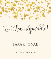 Wedding Wine Label - Let Love Sparkle