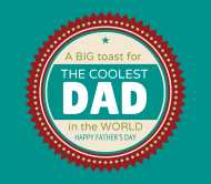 Holiday Beer Label - A Toast To Dad