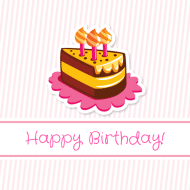 Birthday Sticker - Birthday Cake