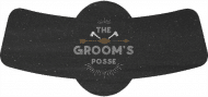 Wedding Bottle Neck Label - The Groom's Posse