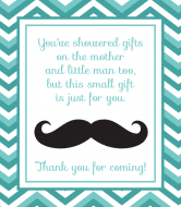 Baby Champagne Label - Mustache Shower