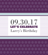 Birthday Wine Label - Let's Celebrate