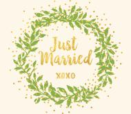 Wedding Beer Label - Gilded Wreath