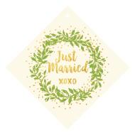 Wedding Wine Hang Tag - Gilded Wreath