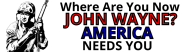 Expressions Bumper Sticker - Where Are You Now John Wayne