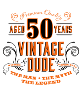Birthday Wine Label - 50th Vintage Dude