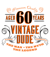 Birthday Wine Label - 60th Vintage Dude