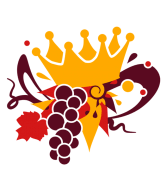 Wine Label - A Crown Of Vine Leaves And Grapes