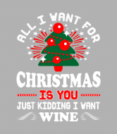 Holiday Wine Label - All I Want For Christmas Is You Just Kidding