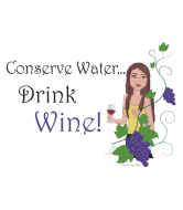 Wine Label - Conserve Water