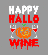 Holiday Wine Label - Happy Hallo Wine Halloween