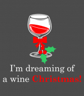 Holiday Wine Label - Im Dreaming Of A Wine Christmas