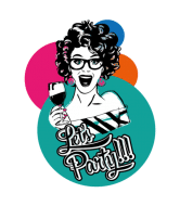 Wine Label - Lets Party