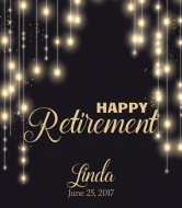 Wine Label - String Light Retirement