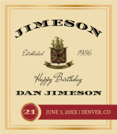 Celebration Liquor Label - Jimeson
