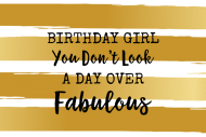 Birthday Mini Wine Label - Day Over Fabulous
