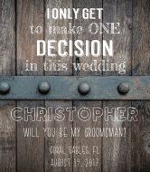 Wedding Wine Label - One Decision