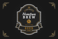 Growler Label - Hometown Brew