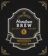 Expressions Liquor Label - Hometown Brew