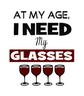 Birthday Wine Label - Need Wine Glasses Birthday Funny