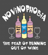Wine Label - Novinophobia Bottles White Text