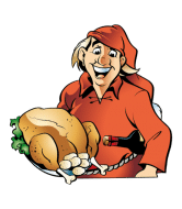 Wine Label - Santa With Turkey And Wine