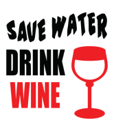 Wine Label - Save Water Drink Wine Bottles