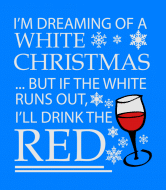 Holiday Wine Label - White Christmas