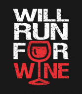 Wine Label - Will Run For Wine