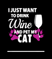 Wine Label - Wine And Cat