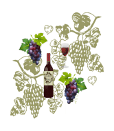 Wine Label - Wine And Grapes