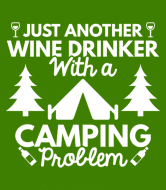 Wine Label - Wine Drinker Camping