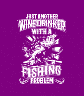 Wine Label - Wine Drinker With Fishing Problems