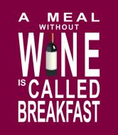 Wine Label - Wine For Breakfast