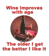 Wine Label - Wine Inproves With Age