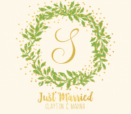 Wedding Beer Label - Gilded Wreath