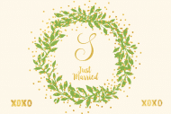 Mini Champagne Label - Gilded Wreath