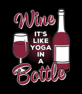 Wine Label - Wine Lover Like Yoga In A Bottle