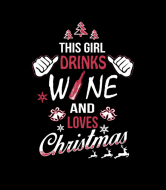 Holiday Wine Label - Wine This Girl Drinks Wine And Loves Christmas