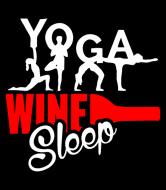 Wine Label - Yoga Wine Sleep