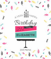 Birthday Wine Label - Layer Cake