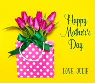 Holiday Beer Label - Mother's Day Tulips