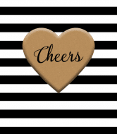 Celebration Wine Label - Stripes & Heart