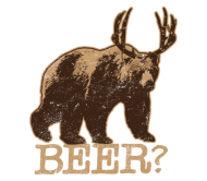 Beer Label - Bear Deer Is Beer Deer