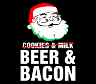 Beer Label - Beer And Bacon Santa Christmas