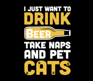 Beer Label - Beer And Cats