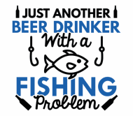 Beer Label - Beer Drinker Fishing