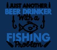 Beer Label - Beer Drinker Fishing