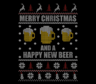 Beer Label - Beer Lover Merry Christmas And A Happy New Beer